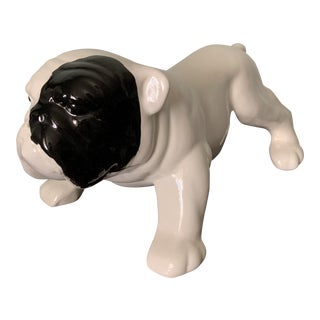 Mid Century Bulldog Ceramic Figurine For Sale