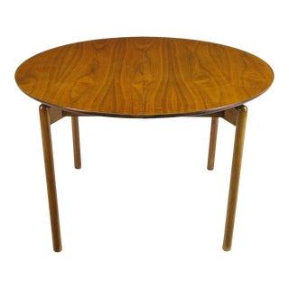 Greta Grossman Round Walnut Dining Table by Glenn of California For Sale