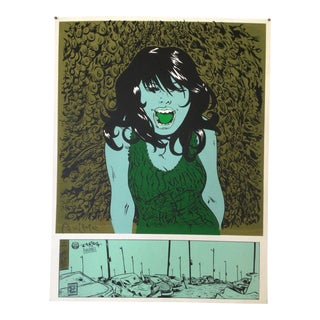 """Paul Pope Pop Art Poster """"Car Crash"""" Signed and Numbered 7/50 For Sale"""