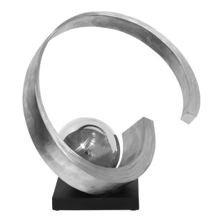 ''Follow Through'' Contemporary Abstract Metal Sculpture by James Kelsey For Sale