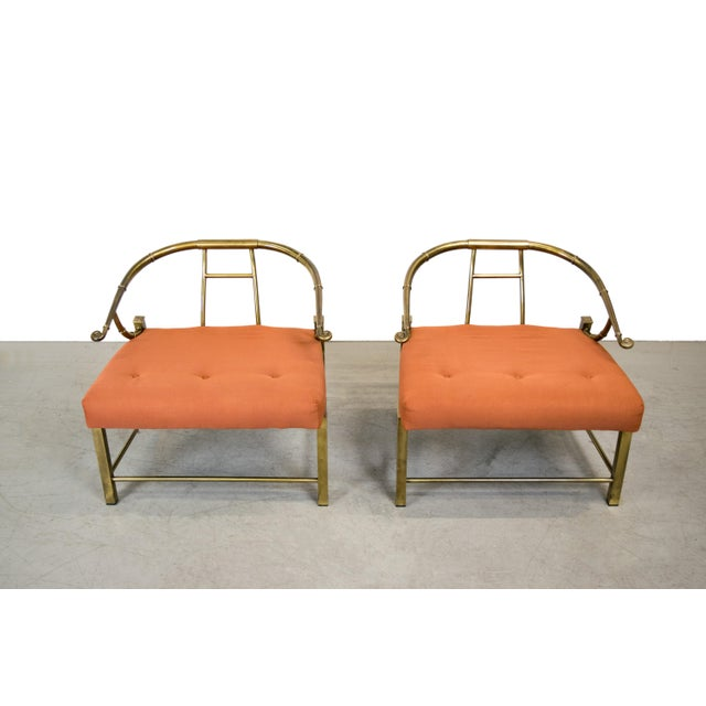 Brass Lounge Chairs by Mastercraft - Pair - Image 3 of 10