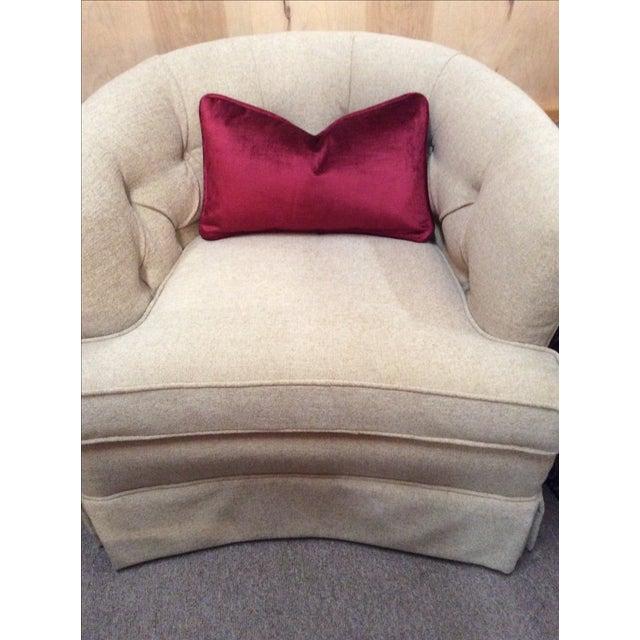 Burgundy Velvet Pillows - A Pair - Image 8 of 9