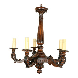 European Carved Wood Fixture For Sale