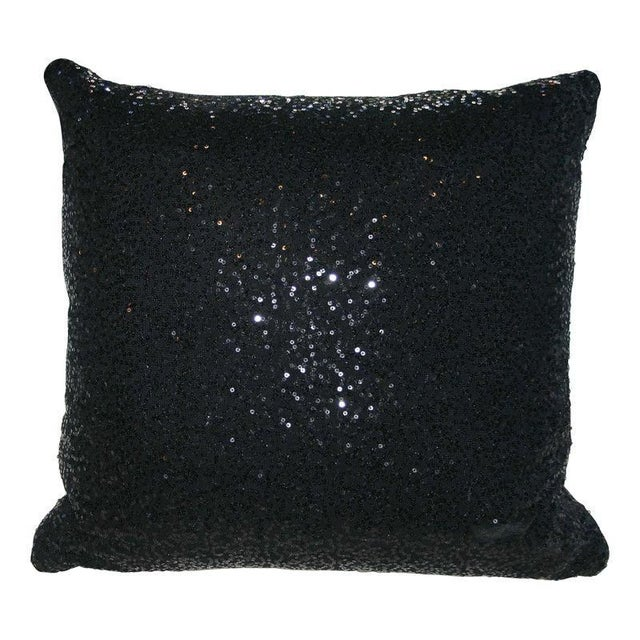 Black Sequin Pillow - Image 1 of 4