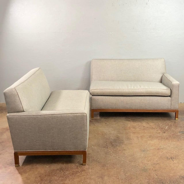 Mid Century Modern Milo Baughman Style Sectional Sofa- 2 Pieces