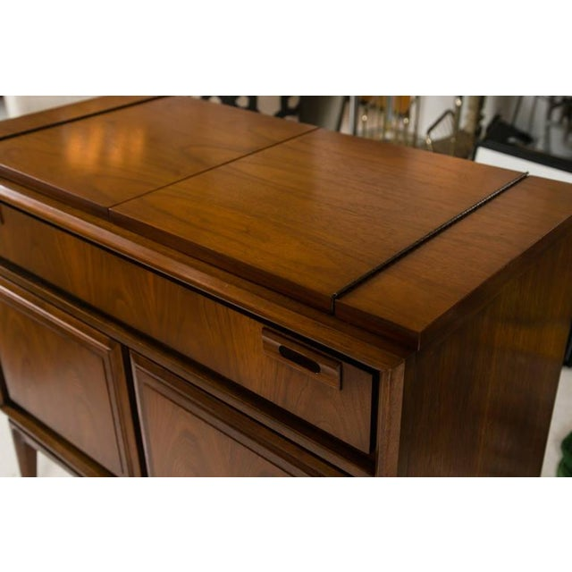 Mid-Century Custom Flip-Top Bar Cabinet - Image 7 of 10