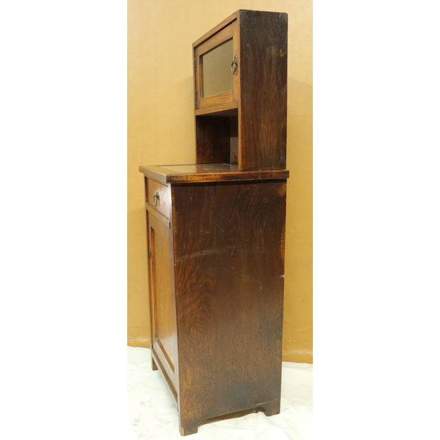 Late 19th Century Antique American Two-Part Step Back Cupboard With Hutch For Sale - Image 5 of 13
