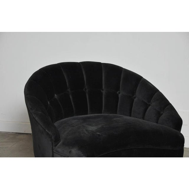 Sculptural Form Lounge Chair with Ottoman - Image 5 of 6