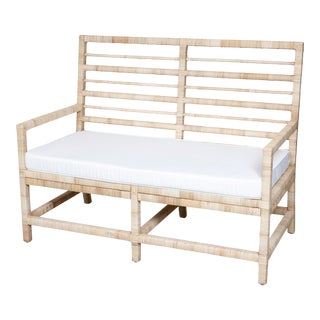 Maritime Bench, Natural For Sale