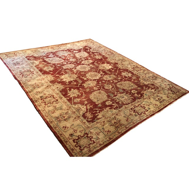 Oriental Handmade Red Rug - 8' X 10' For Sale