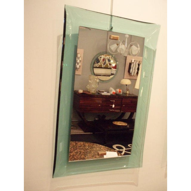 1950s Fontana Arte Very Rare Curved Framed Wall Mirror Italy circa 1958 For Sale - Image 5 of 10