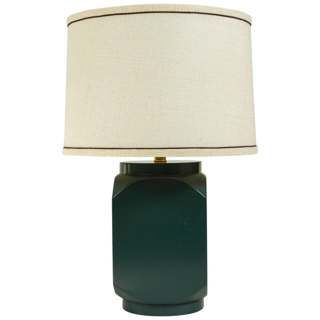 Martin and Brockett Modern Matte Lacquer Lamp - Image 1 of 5