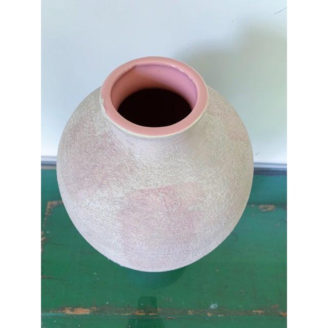 Pink Vintage Haeger Textured Pink Ceramic Vase For Sale - Image 8 of 10