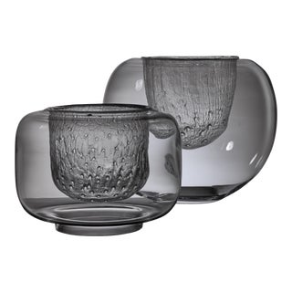 Pair of Glass Bowls by Timo Sarpaneva for Iittala For Sale
