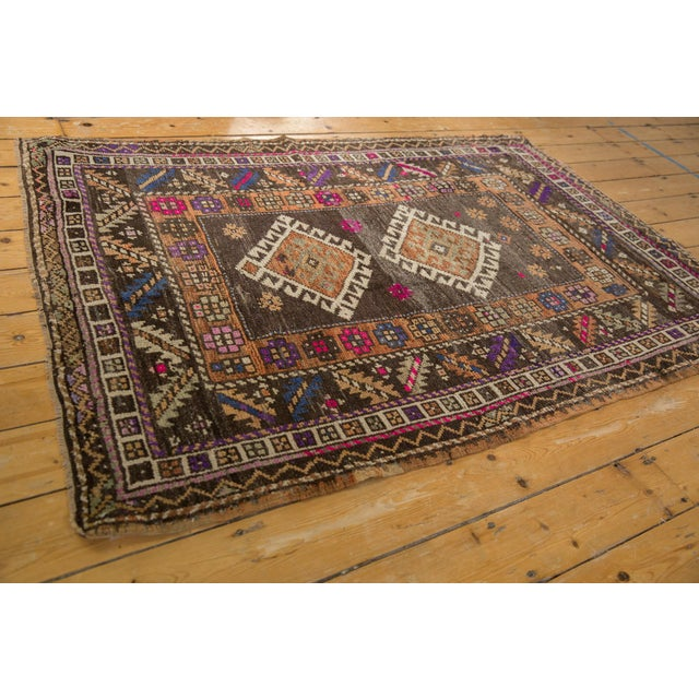 """Vintage Distressed Oushak Rug - 4'1"""" X 6'2"""" For Sale In New York - Image 6 of 10"""