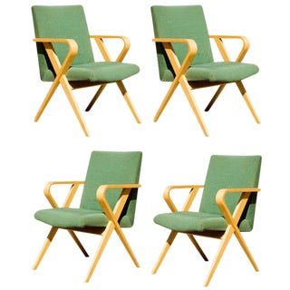 Thonet Bentwood Upholstered Armchairs - Set of 4 For Sale