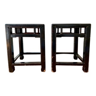 Antique 19th Century Chinese Stools- a Pair For Sale
