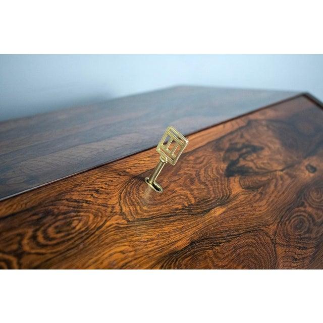1960s Outstanding Scandinavian Rosewood Secretary Desk by Torbjørn Afdal for Bruksbo For Sale - Image 5 of 8