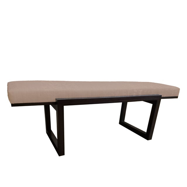 """The Workrooms The Hide's """"The Darby"""" Long Bench in Leather For Sale - Image 4 of 4"""