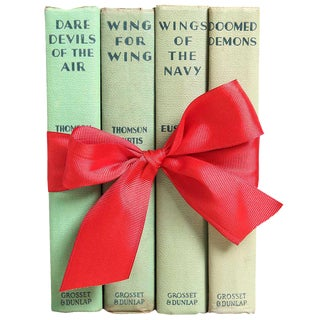 Vintage Book Gift Set: Airforce Fly Boys - Set of 4