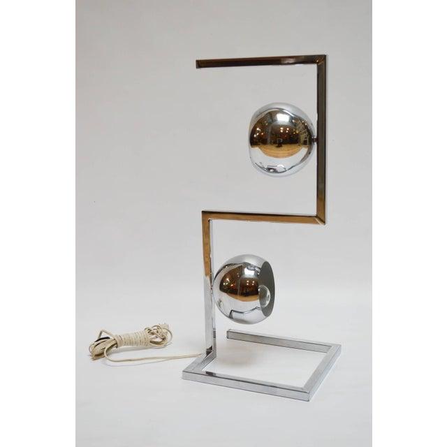 Mid-Century Modern Chrome Eyeball Lamp - Image 3 of 8
