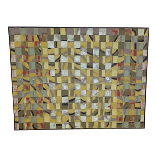 Contemporary Abstract Pattern Acrylic Painting by Kelly Caldwell, Framed For Sale
