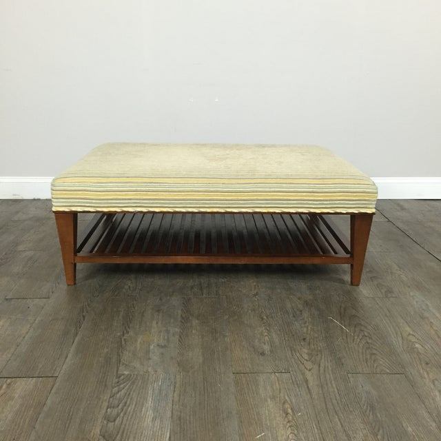 Upholstered Ottoman Coffee Table by Baker - Image 2 of 9