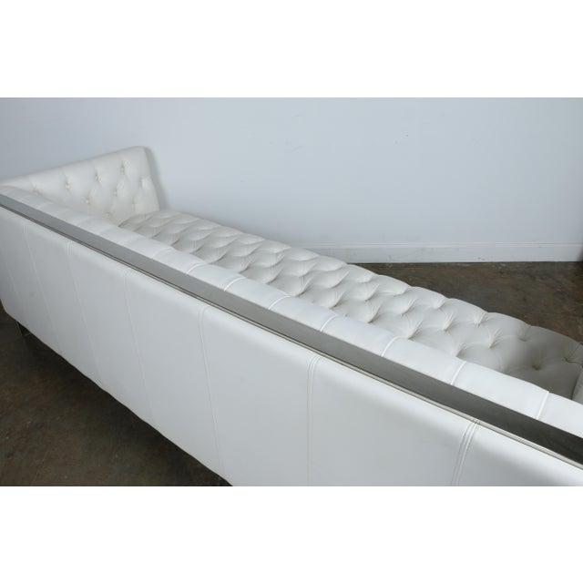 Modern Style White Chesterfield Sofa - Image 8 of 10