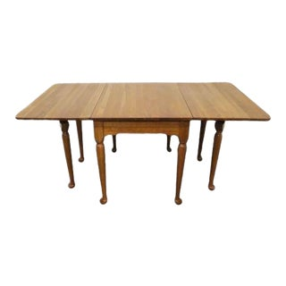20th Century Traditional Georgetown Galleries Solid Cherry Drop Leaf Dining Table For Sale