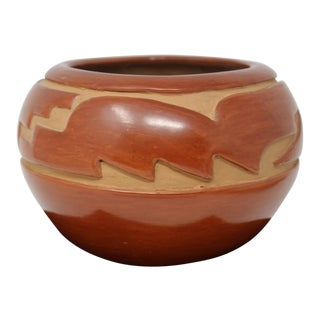 Rare Margaret Tafoya Native American Indian Carved Redware Bowl