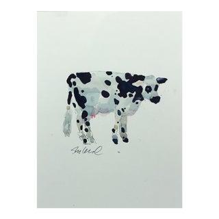 "Original Watercolor Cow, 9x12"" Watercolor For Sale"