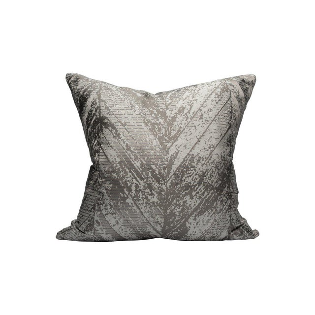 Transitional Scalamandre Chiron Pillow, Cosmic Dust For Sale - Image 3 of 3