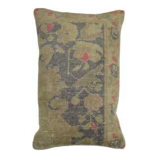 Pastel Large Size Turkish Rug Pillow, 16'' X 23' For Sale
