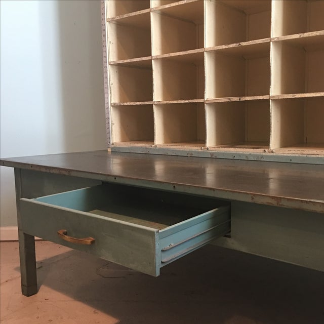 Vintage US Postal Metal Mail Sorting Cubby Desk For Sale In New York - Image 6 of 11