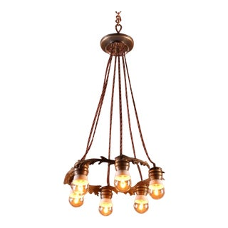 Atmospheric Ceiling Lamp, France Early 20th Century For Sale