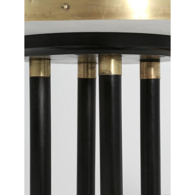 Empire Antique French Empire Side Table Ebonized For Sale - Image 3 of 13