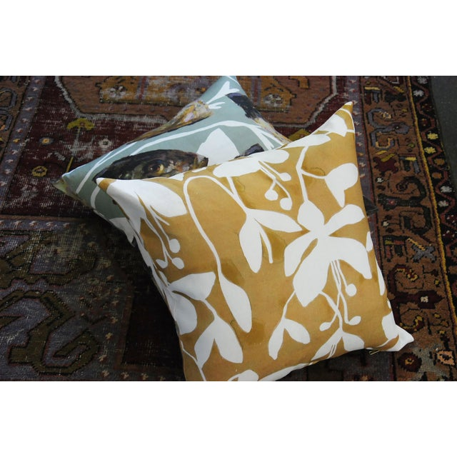 2020s Goldenrod Fuchsia Pillow Cover by Kate Roebuck For Sale - Image 5 of 6