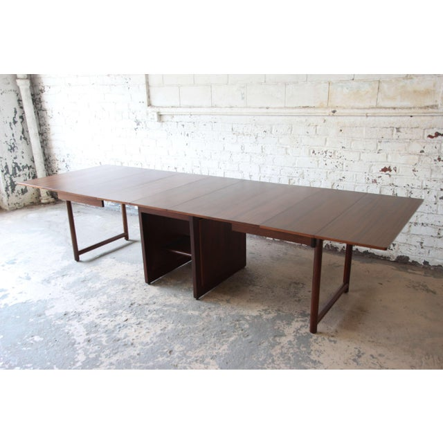 Large Edward Wormley for Dunbar Mahogany Extension Dining Table For Sale - Image 13 of 13