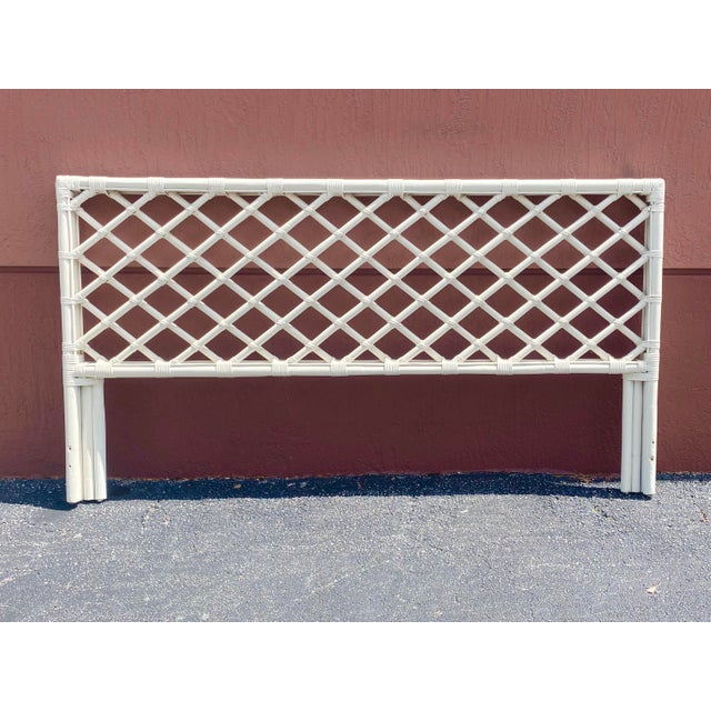 Vintage King Size Bamboo Lattice Headboard For Sale In Miami - Image 6 of 6