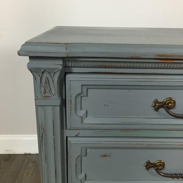 Vintage Gray-Blue Credenza - Image 6 of 11