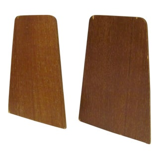 Danish Modern Teak Bookends by Viking of Japan - a Pair For Sale