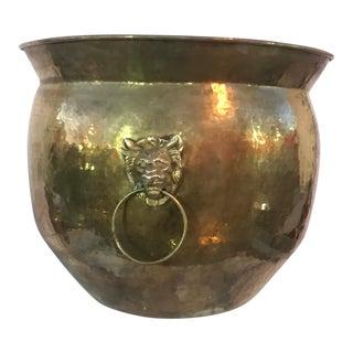 1970s Spanish Style Brass Ornament Pot.