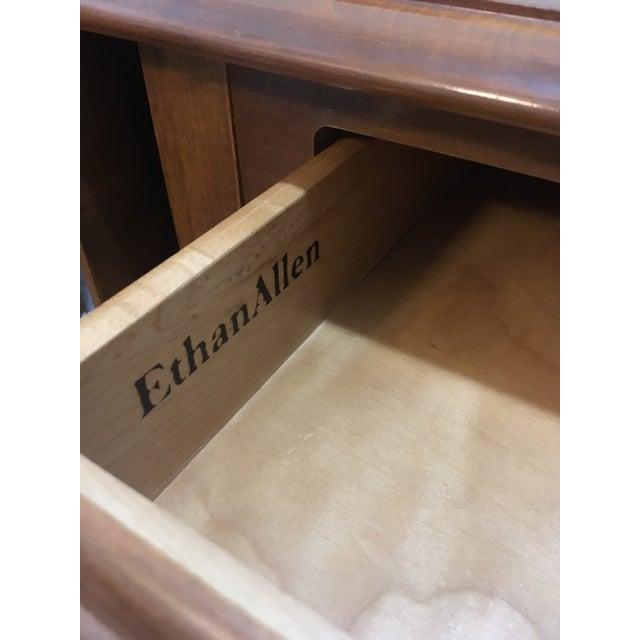 Vintage Ethan Allen Drop Leaf Side Tables - a Pair - Image 3 of 13
