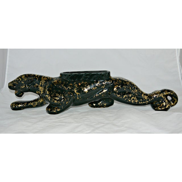 Vintage Mid-Century Ceramic Panther Planter - Image 4 of 8