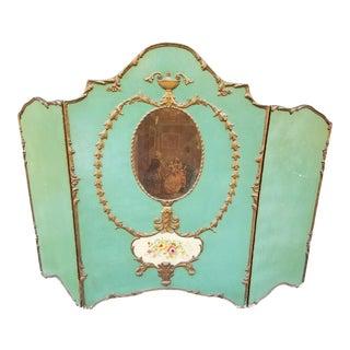 Antique Victorian Tri-Fold Room Divider For Sale