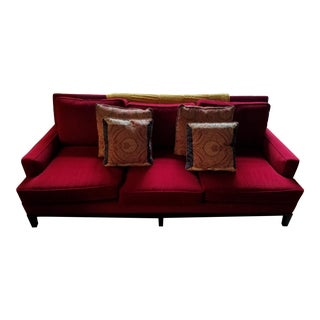 Michael Weiss Vanguard Rose Upholstered Sofa With Decorative Pillows