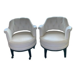 Mid-Century Monteverdi-Young Swivel Chairs by Maurice Bailey- A Pair For Sale