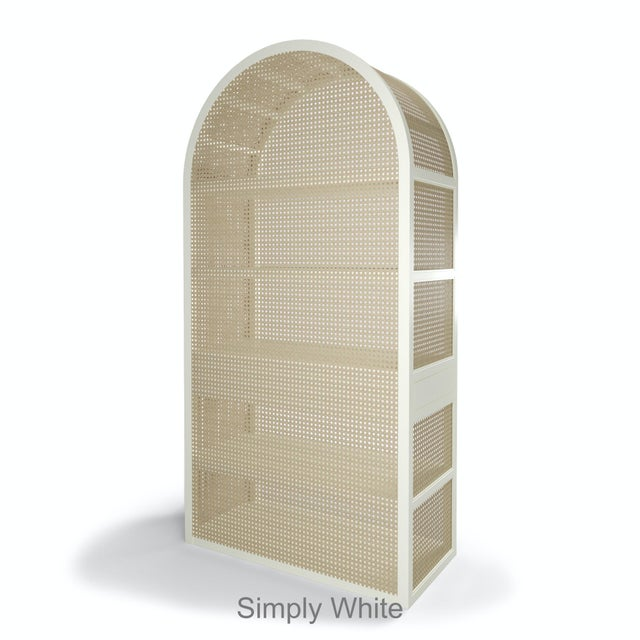 Contemporary Leila Etagere Bookcase- Simply White For Sale - Image 3 of 5