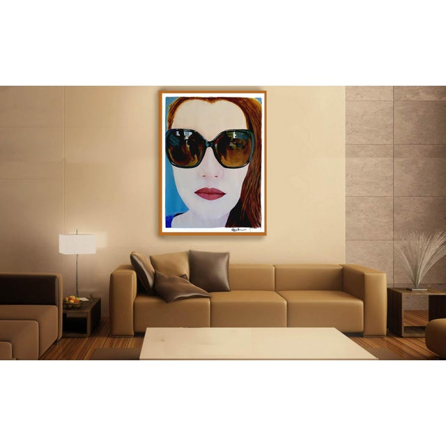 """2010s """"Portrait of Claire"""" Painting by Geoff Greene For Sale - Image 5 of 11"""
