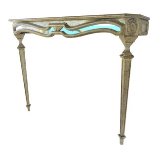 Italian Florentine Mirrored Console Table